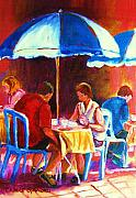 Outdoor Cafe Paintings - Tea For Two by Carole Spandau