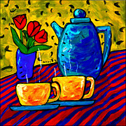 Teapot Painting Posters - Tea for Two Poster by Dale Moses