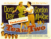 Doris Day Framed Prints - Tea For Two, Doris Day, Gordon Macrae Framed Print by Everett