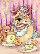 Tea Party Drawings - Tea for two by Julie McDoniel