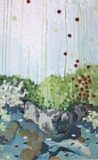 Good Luck Painting Metal Prints - Tea Garden Metal Print by Jamie Kivisto