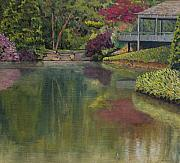 Japanese Tea Garden Paintings - Tea House by Don Perino
