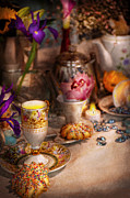 Tea House Prints - Tea Party - The magic of a tea party  Print by Mike Savad