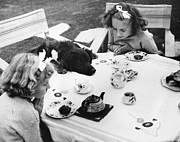 Pet And Owner Prints - Tea Party Print by Fox Photos