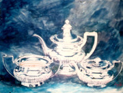 Teapot Paintings - Tea Pot by Efren Teves