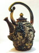 Pot Ceramics Prints - Tea Pot Print by Kathleen Raven