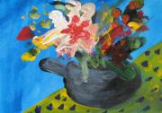 Teapot Paintings - Tea Series c by Rebecca Worters