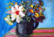 Teapot Painting Originals - Tea Series d by Rebecca Worters