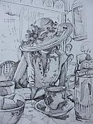 Tea Party Drawings - Tea Time by Aleksandra Buha