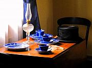 Oil Lamp Photos - Tea Time Composition by Ian  MacDonald