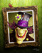 Creepy Digital Art Framed Prints - Tea Time for the Twisted Framed Print by Bill Fleming