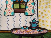 Patterned Drawings Metal Prints - Tea Time Metal Print by John  Williams
