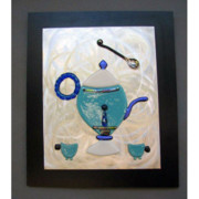 Fused Glass Glass Art - Tea Time by Marilyn Catlow
