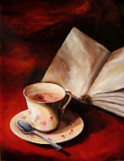 Diane Kraudelt Art - Tea With Cream by Diane Kraudelt