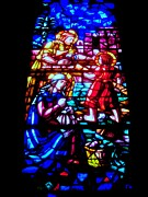 Stain Glass  Work - Teach The Children by Allen n Lehman