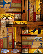Yellow Brown Posters - Teacher - Biology Poster by Carol Leigh