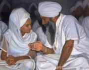 Spiritual Teacher Paintings - Teacher by Gurukirn Khalsa