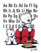 West Highland Terriers Posters - Teachers Pet Westies Poster by Kim Niles