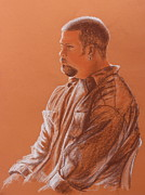 Sepia Pastels Prints - Teachers Son Print by Kume Bryant