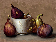Figs Prints - Teacup Of Figs II Print by Clinton Hobart