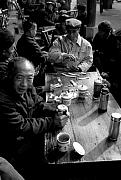 Drinker Prints - Teahouse drinkers Print by Lian Wang