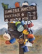 Teakettle Framed Prints - Teakettle Junction Framed Print by Karen Fleschler