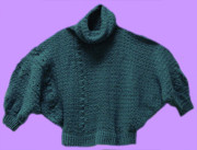 Beautiful Tapestries - Textiles Originals - Teal Dolman Sweater by Shirley Heyn