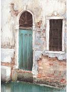 Brick Paintings - Teal door by Susan Jenkins