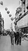 Rugby Union Art - Team Balloons by Bert Hardy