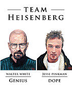 T Shirts Digital Art Prints - Team Heisenberg Print by Tom Roderick