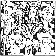 Diamond Drawings Prints - Team of Monkeys guarding the crystal maze Print by Yonatan Frimer Maze Artist