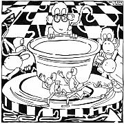 Monkeys Drawings - Team Of Monkeys Maze Cartoon - Pottery by Yonatan Frimer Maze Artist