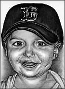 Red Sox Drawings - Team Spirit by Kristen Gavula
