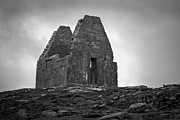 Aran Islands Framed Prints - Teampall Bheanain Inis Mor Framed Print by John Burnett