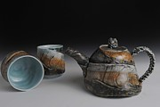 Fly Fishing Ceramics - Teapot by Mark Chuck