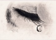 Eye Pastels Framed Prints - Tear On A Lash Framed Print by Eamon Gilbert