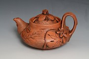 Incised Ceramics - Tear Water Teapot by Patty Sheppard