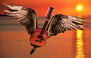 Rock Around The World Posters - Teardrops On My Guitar Rocks Poster by Eric Kempson