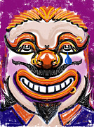 Scary Clown Framed Prints - Tears of a clown Framed Print by Russell Pierce