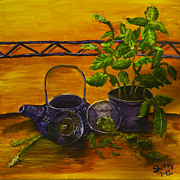 Teapot Paintings - Teatime by Shelley Bain