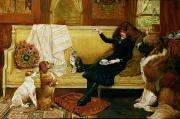 1917 Paintings - Teatime Treat by John Charlton
