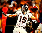 Tim Tebow Digital Art Framed Prints - Tebow Framed Print by Paul Van Scott
