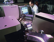 Mass Photo Posters - Technician Uses An Isotope Ratio Mass Spectrometer Poster by Tek Image
