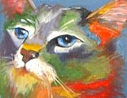 Technicolor Tabby Print by Susan A Becker