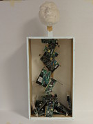 Paper Sculpture Posters - Technological Vomit Poster by Darien Wendell