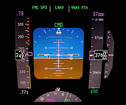 Automatic Prints - Technology. Aircraft flight deck at 37000 ft. Print by Fernando Barozza