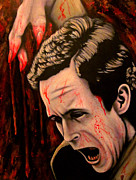 Serial Killer Painting Prints - Ted Bundy Print by Justin Coffman
