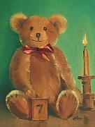 Teddy Paintings - Ted E. Bear by Arline Wagner