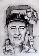 Red Sox Art - Ted by Jack Skinner