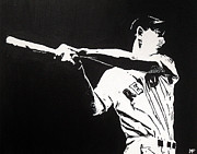 Baseball Painting Metal Prints - Ted Metal Print by Matthew Formeller